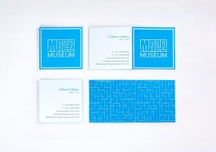 Maze Museum | Folded Business Card