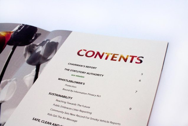 Annual Report   Eco Mission (Contents Detail Close Up)